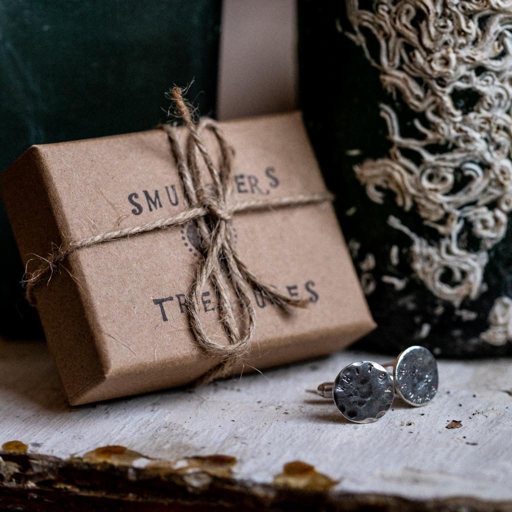 Handmade Silver Whitby Cufflinks