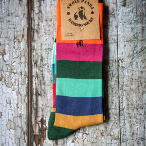 Block stripe bamboo socks